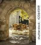 HDR images of a gateway - stock photo