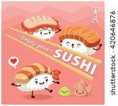 vintage sushi poster design... | Shutterstock .eps vector #420646876