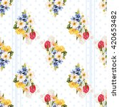 seamless floral pattern white... | Shutterstock .eps vector #420653482