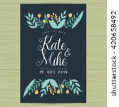 save the date  wedding... | Shutterstock .eps vector #420658492