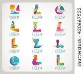 logo letter l element and... | Shutterstock .eps vector #420667522
