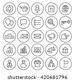 set of isolated high quality... | Shutterstock .eps vector #420681796
