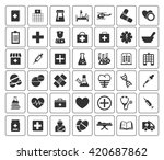 medical icons set | Shutterstock .eps vector #420687862