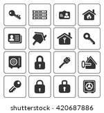 security icons  | Shutterstock .eps vector #420687886