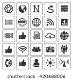network icons set | Shutterstock .eps vector #420688006