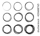 set of empty hand drawn circles ...   Shutterstock .eps vector #420688765