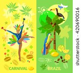 brazil banners brazilian woman... | Shutterstock .eps vector #420690016