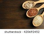 sesame  flax and sunflower... | Shutterstock . vector #420692452