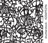 graffiti background seamless... | Shutterstock .eps vector #420695296