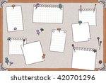 hand drawn illustration of pin...   Shutterstock .eps vector #420701296