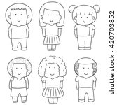vector set of children | Shutterstock .eps vector #420703852