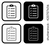 to do list icon . vector... | Shutterstock .eps vector #420707656