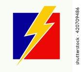 Vector Of Lightning Logo Symbo...