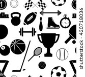 seamless pattern with sport... | Shutterstock . vector #420718036