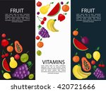 fruits banners vertical for... | Shutterstock .eps vector #420721666