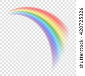 rainbow icon. shape arch... | Shutterstock .eps vector #420725326