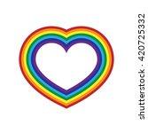 rainbow icon heart. flat sign ... | Shutterstock .eps vector #420725332