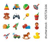 toys icons for kids isolate on...   Shutterstock .eps vector #420726166