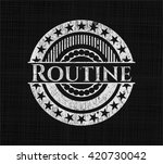 routine chalk emblem | Shutterstock .eps vector #420730042