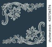 lace ornament decor  | Shutterstock .eps vector #420736576