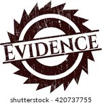 evidence with rubber seal... | Shutterstock .eps vector #420737755