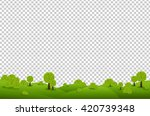Green Landscape  Isolated On...