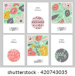 trendy creative hand drawn... | Shutterstock .eps vector #420743035