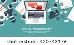 photography equipment with... | Shutterstock .eps vector #420743176