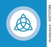 triquetra symbol . vector... | Shutterstock .eps vector #420747088