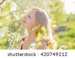 beautiful  lovely and young... | Shutterstock . vector #420749212