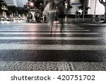 night view of crosswalk and... | Shutterstock . vector #420751702