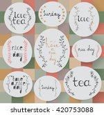 floral elements collection.... | Shutterstock .eps vector #420753088