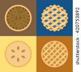 Pie Icon Set  Pecan  Blueberry...