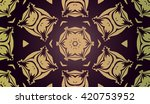 abstract pattern with ethnic... | Shutterstock .eps vector #420753952
