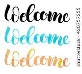 welcome  isolated handmade... | Shutterstock .eps vector #420757255