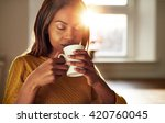 attractive young black woman... | Shutterstock . vector #420760045