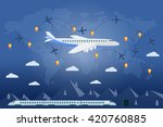 flat vector web banner on the... | Shutterstock .eps vector #420760885