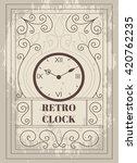 retro clock vector. vintage...   Shutterstock .eps vector #420762235
