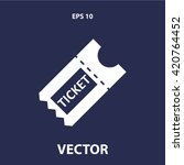 ticket icon | Shutterstock .eps vector #420764452