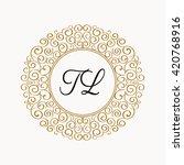 beautiful monogram. feminine... | Shutterstock .eps vector #420768916
