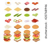 Vector Set Of Isometric Icons....