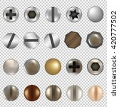 bolts and screws big set ... | Shutterstock .eps vector #420777502