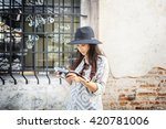 photographer travel sightseeing ... | Shutterstock . vector #420781006