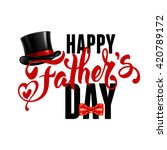 fathers day lettering... | Shutterstock .eps vector #420789172