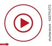 play button | Shutterstock .eps vector #420791572