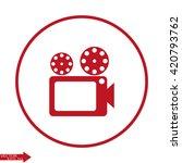 movie icon. video camera icon.