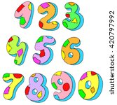 a set of numbers. figures... | Shutterstock .eps vector #420797992