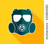 gas mask icon. chemical...