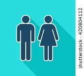 gender flat icon. man and woman ...