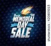 advertising memorial day sale... | Shutterstock .eps vector #420805015